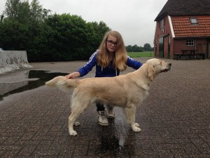 Sanne met haar lieve Rose (First Rose True Love Of Goldens)